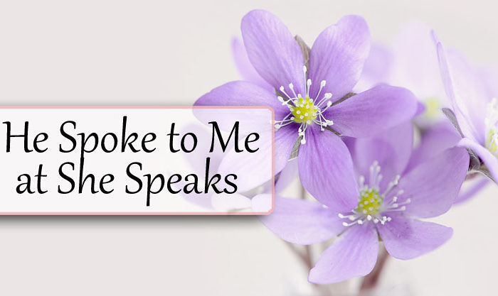 He Spoke to Me at She Speaks